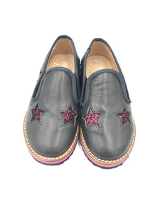 Hoo Black Star Slip on Loafer 2276