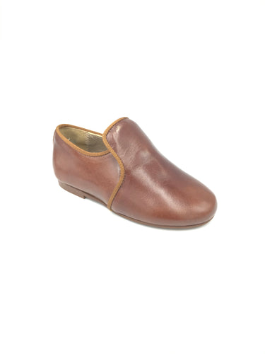 Papanatas Brown Leather Smoking Loafer 6906V