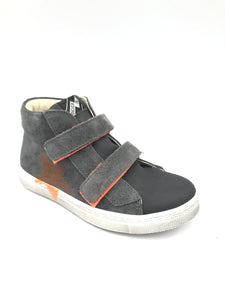 Shoe B 76 Grey Suede Orange Velcro Sneaker 6013