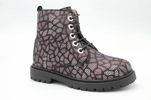 Andanines Purple Mandala Lace Up Bootie 202484
