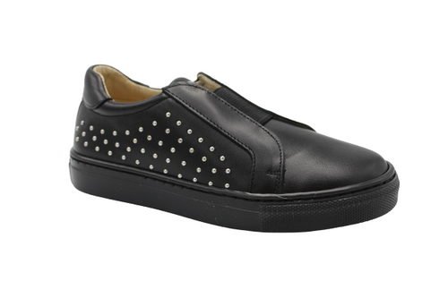 Andanines Black Leather Stud Sneakers 202981