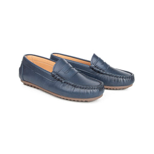 LMDI Navy Penny Loafer