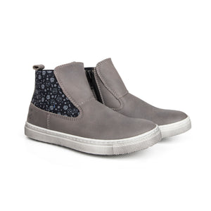 Shoe B 76 Grey Leather Elastic Boot 1997