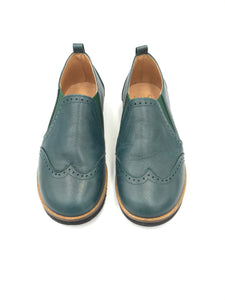 TNY Hunter Green Slip On Oxford 13676