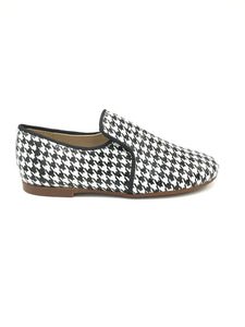 Papanatas Houndstooth Black White Slip On Loafer 6957AA