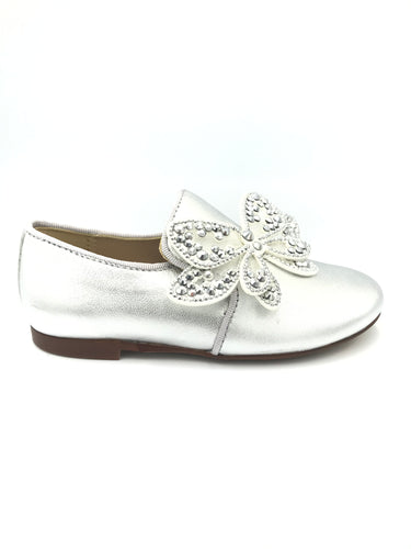 Papanatas Silver Butterfly Slip On Loafer 6957AA