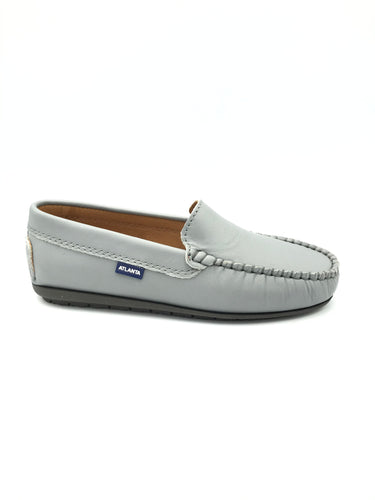 Atlanta Mocassin Grey Leather Loafer 14217