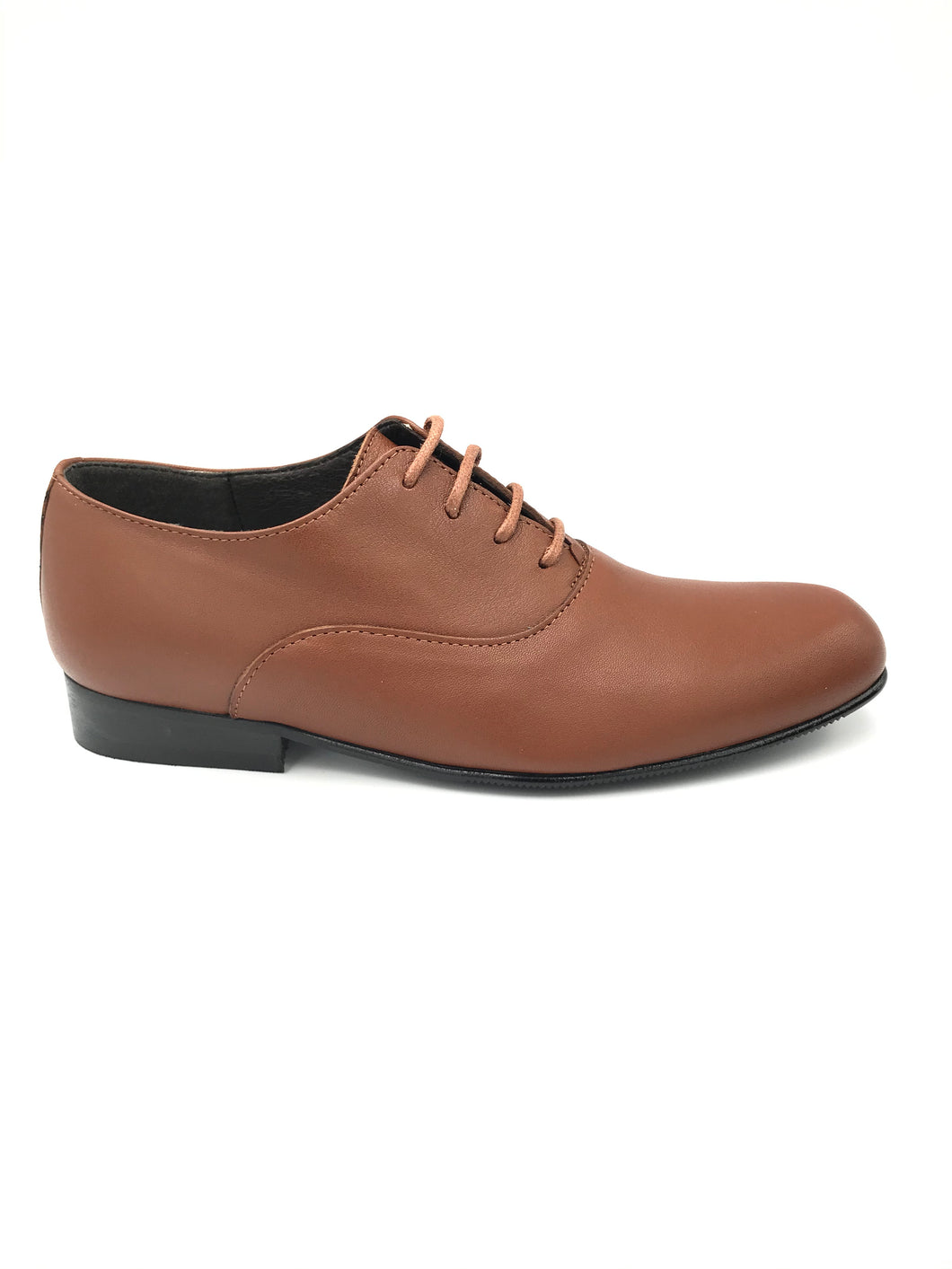 Atlanta Mocassin Brown Leather Lace Up Dress Shoe 14331