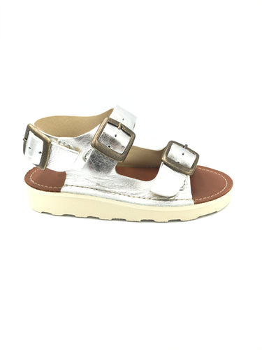 Young Soles Spike Silver Buckled Sandal