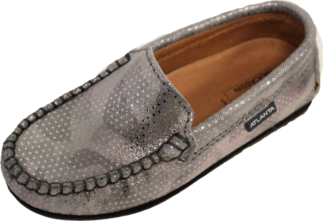 Atlanta Moccasin Rose Gold Grey Loafer V5L4