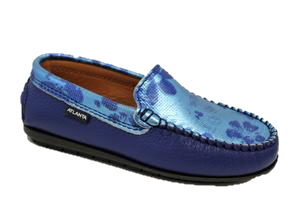 Atlanta Moccasin in Blue Turquoise Loafer