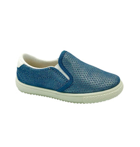Vulladi Blue Metallic Slip-on Sneaker