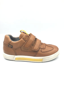 Froddo Brown Leather Double Velcro Sneaker G3130145