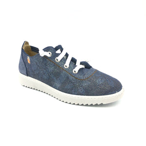 Vulladi Blue Sparkle Laced Look Sneaker 5812237