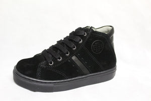 Blublonc Black Suede Side Zipper Sneaker 58502