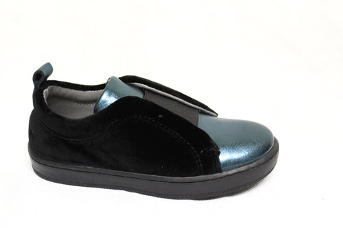 Blublonc Teal Black Slip On Sneaker 20937