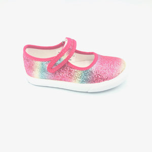 Amiana (A-Line) Pink Rainbow Velcro Strap Slip On Sneaker A0838