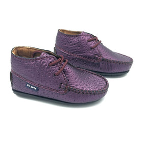 Atlanta Mocassin Purple First Walker Bootie M073