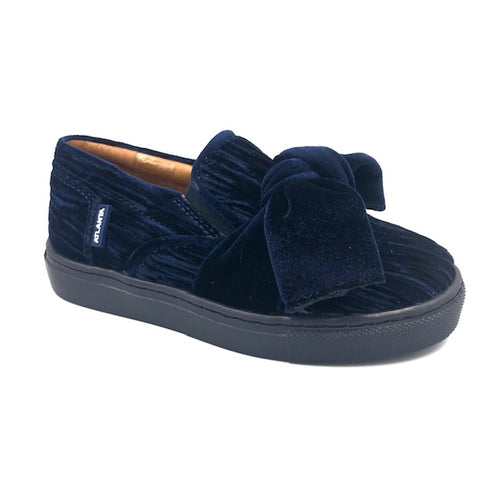 Atlanta Navy Velvet Slip On Sneaker L60T