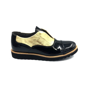 Blublonc Black Gold Patent Oxford 21301