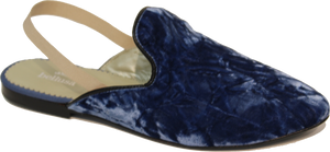 Bellusa Crushed Blue Velvet Slide Amelie
