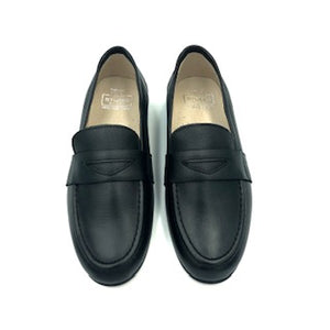 Hoo Black Leather Penny Loafer 2272