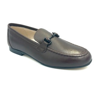 Hoo Brown Leather Chain Loafer 2273