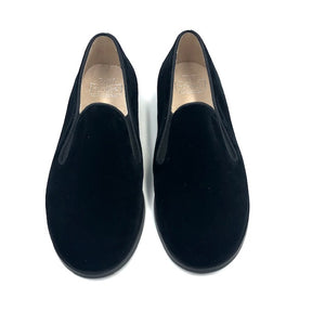 Hoo Black Velvet Smoking Loafer 3061