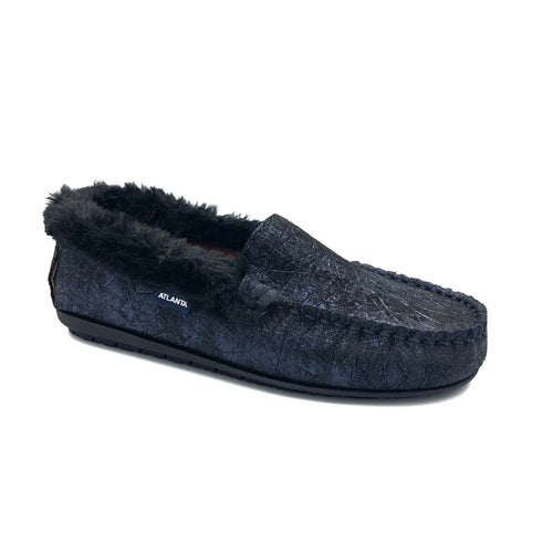 Atlanta Mocassin Navy Fur Loafer