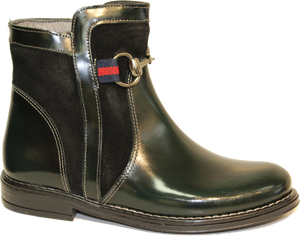 Blublonc Hunter Green Patent Boot 264