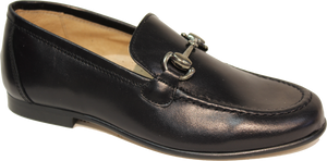 Hoo Black Leather  Chain Loafer 2173