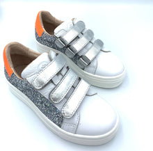 Acebos Velcro Glitter Orange Laced Up Shoes 9815