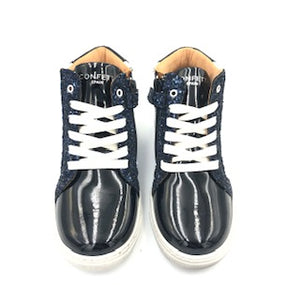 Confetti Navy White Star High Top Sneaker 1606