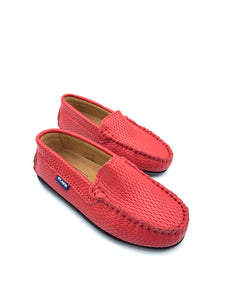 Atlanta Mocassin Red Textured Loafer 14226