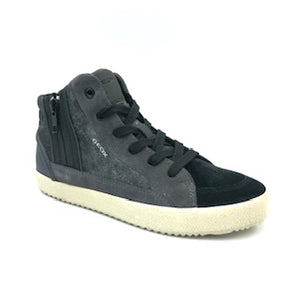 Geox Black Suede Grey High Top Sneaker J942