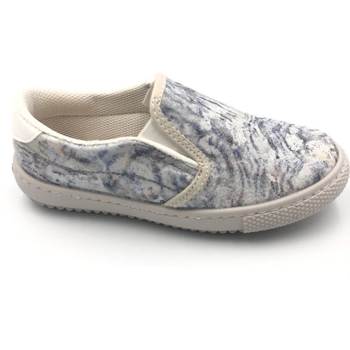 Vulladi Blue White Slip On Sneaker 8312625