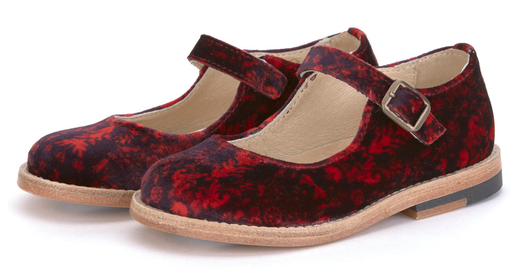 Young Soles Print Buckle Mary Jane