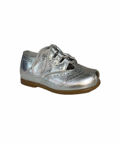 Geppettos Silver Lace Up Sandal Shoe