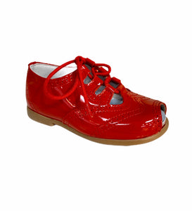 Geppetttos Red Patent Lace Up Sandal Shoe 61101