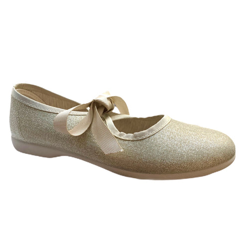 Childrenchic Gold Lace Bow Slip On Shoe 112747