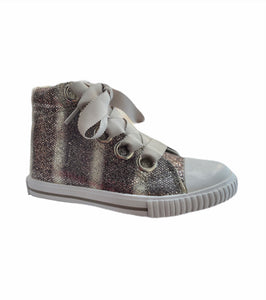 Amiana Grey Glitter High-Top Sneaker A0920