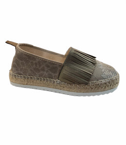 Sonatina Taupe Frilled Espadrilles