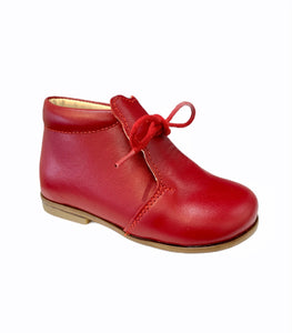 Emel Red Leather Kitty Toddler Bootie