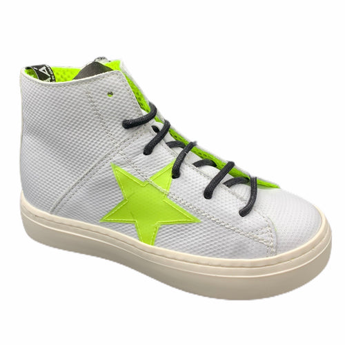Maa by Manuela De Juan White Yellow Star Sneaker