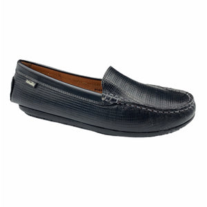 Venettini Gordy Black Leather Loafer Moccasin