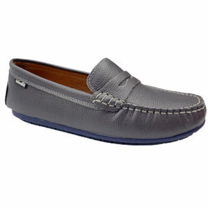 Venettini Savor Grey with Navy Sole Penny Loafer Moccasin M1110
