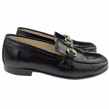 Hoo Black Leather Chain Loafer 3076