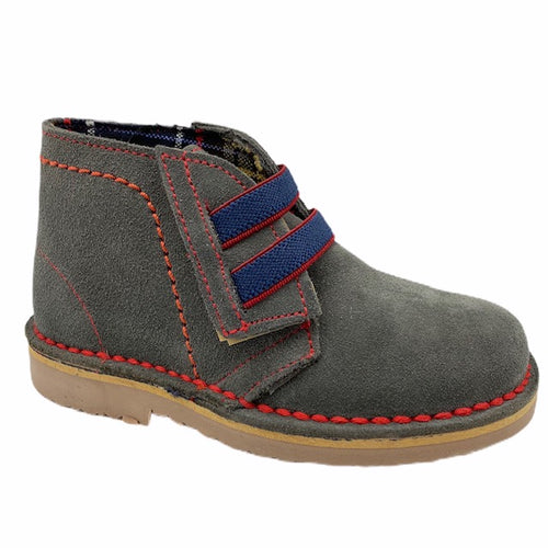 Children Chic Grey Velcro Bootie 1775