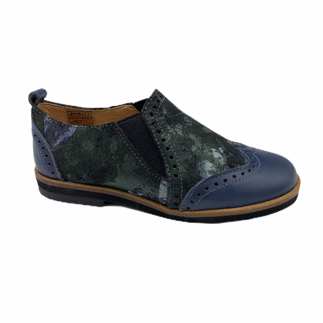 TNY Blue Floral Slip On Oxford 13676