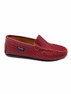 Atlanta Mocassin Red Chain Print Slip On Loafer